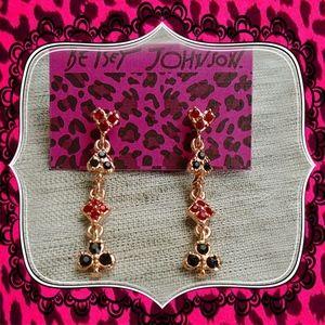 Betsey Johnson Multicolor Unique enamel Earrings